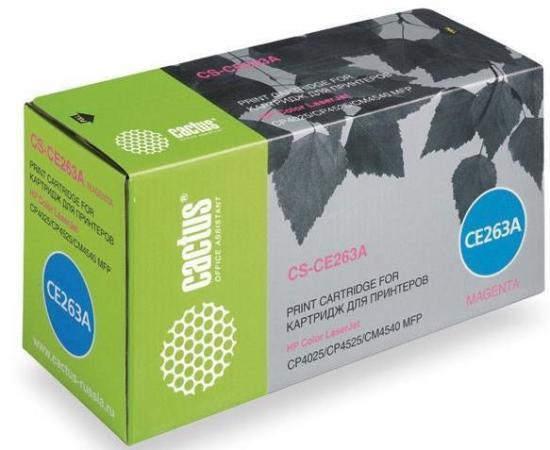 Фото - Картридж CACTUS CS-CE263A для HP Сolor LaserJet CP4025/CP4525/CM4540 пурпурный 11000стр картридж nv print ce263a пурпурный для hp cp4520 cp4525