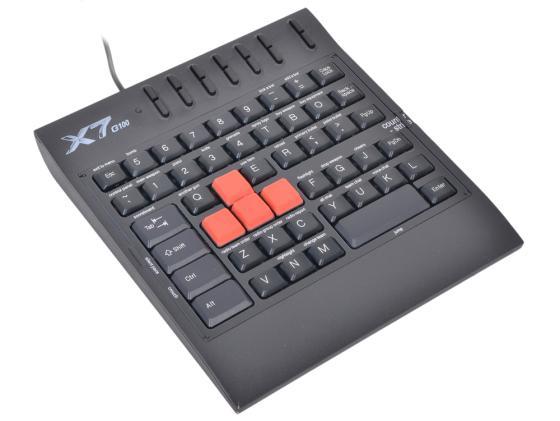 лучшая цена Клавиатура проводная A4TECH X7-G100 USB черный