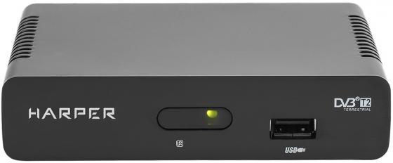 Фото - Цифровой телевизионный DVB-T2 ресивер HARPER HDT2-1108 Черный, Full HD, DVB-T, DVB-T2 tv тюнер harper hdt2 5050