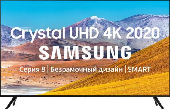 Фото - Телевизор LED 55 Samsung UE55TU8000UXRU черный 3840x2160 60 Гц Wi-Fi Smart TV 3 х HDMI 2 х USB RJ-45 Bluetooth CI+ телевизор led 32 samsung ue32t4500auxru черный 1366x768 60 гц smart tv wi fi usb rj 45