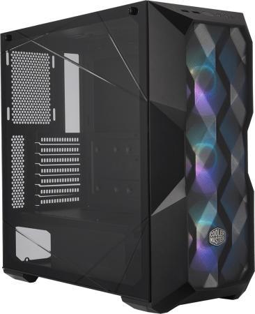 Cooler Master MasterBox TD500 MESH, USB3.0x2, 3x120 ARGB Fan, Black, ATX, w/o PSU cooler master masterbox mb511 2xusb3 0 1x120 fan w o psu black red trim mesh front panel atx