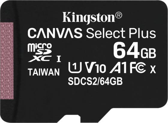 Фото - Карта памяти microSDHC 64Gb Kingston Class10 Canvas Select UHS-I (SDCS2/64GBSP) карта памяти kingston sdcs2 64gb