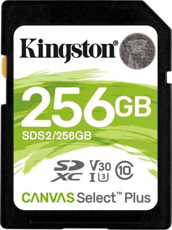 Фото - Карта памяти SDHC 256Gb Kingston Class10 Canvas Select 100R CL10 UHS-I (SDS2/256GB) карта памяти kingston sds2 64gb