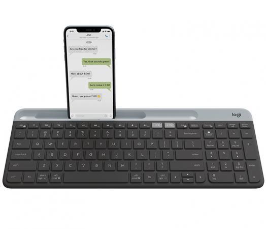 Клавиатура беспроводная Logitech Slim Wireless Bluetooth Multi-Device Keyboard K580 USB + черный