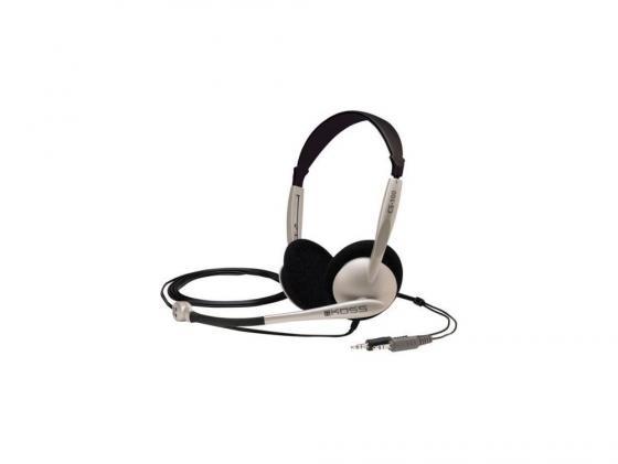 Гарнитура Koss CS-100 черно-серебристый цена