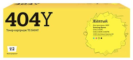 Фото - Картридж T2 TC-S404Y для Samsung Xpress SL-C430/C430W/C480/C480W/C480FW 1000стр Желтый картридж t2 tc s111l для samsung xpress m2020 xpress m2070f xpress