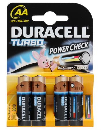 Батарейки Duracell Turbo MAX LR6-4BL AA 4 шт usb c charger power delivery qc 3 0 type c pd 3 port fast charger for new macbook samsung hp dell acer asus l