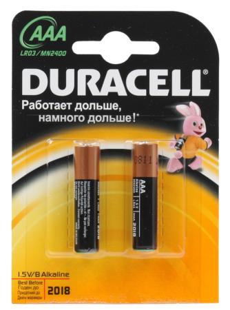 Батарейки Duracell LR03-2BL AAA 2 шт цена и фото