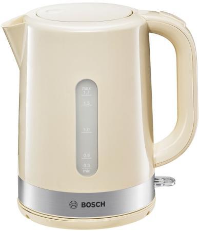 Фото - Чайник электрический Bosch TWK 7407 2200 Вт бежевый 1.7 л пластик чайник электрический металлический bosch twk 4p434 1 7 л 2 4 квт