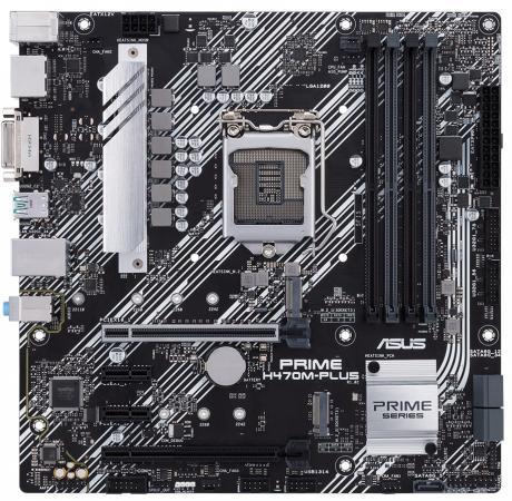 Материнская плата ASUS PRIME H470M-PLUS Socket 1200 H470 4xDDR4 2xPCI-E 16x 2xPCI-E 1x 5 mATX Retail