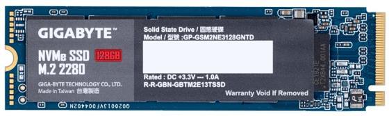 GIGABYTE SSD 128GB, TLC, M.2 (2280), PCIe Gen 3.0 x4, NVMe, R1550/W550