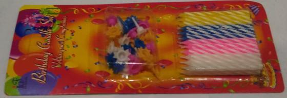 Свечи для торта 20 шт CRK17CND002 праздничные свечи для торта комплект 20 шт с подставкой 5 см в блистере 1502 0180