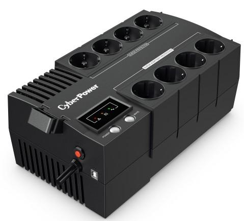 CyberPower ИБП Line-Interactive BS450E 450VA/270W 8 Schuko розеток, USB, Black