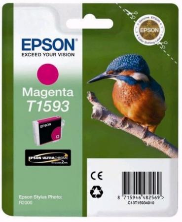 Картридж Epson C13T15934010 для Epson Stylus Photo R2000 пурпурный картридж superfine t0801 для epson stylus photo rx560 stylus photo rx585 stylus photo rx685 stylus photo r265 stylus photo r360 stylus photo px650 epson stylus px50 220стр черный