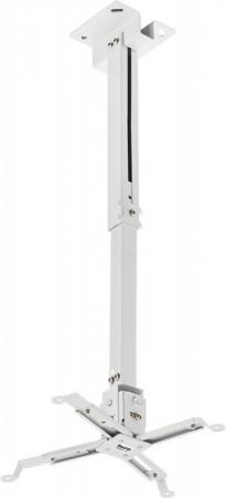 Фото - Кронштейн для проектора Buro PR04-W белый макс.20кг потолочный поворот и наклон карниз потолочный пластиковый dda поворот акант двухрядный серебро 2 8