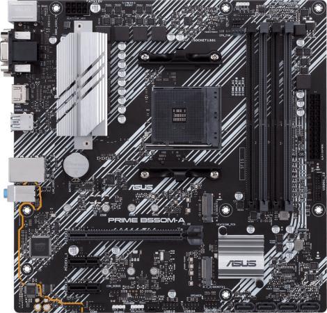 Фото - Материнская плата ASUS PRIME B550M-A Socket AM4 AMD B550 4xDDR4 1xPCI-E 16x 2xPCI-E 1x 4 mATX Retail материнская плата asus tuf gaming b550m plus socket am4 amd b550 4xddr4 2xpci e 16x 1xpci e 1x 4 matx retail
