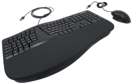Клавиатура + мышь Microsoft Ergonomic Keyboard Kili & Mouse LionRock клав:черный мышь:черный USB Multimedia клавиатура мышь microsoft sculpt ergonomic desktop multimedia ergo black usb l5v 00017