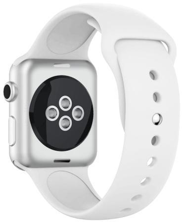 Ремешок силиконовый для Apple Watch (42-44мм) DF iClassicband-02 (white)