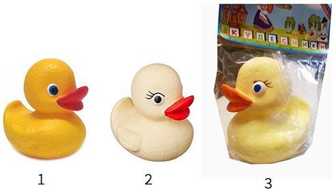 Резиновая игрушка для ванны Пфк игрушки Утёнок малыш