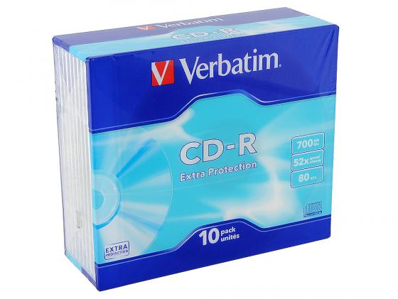 все цены на  Диски CD-R Verbatim 700Mb 52x SlimCase 10шт 43415  онлайн