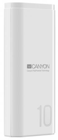 Фото - Внешний аккумулятор Power Bank 10000 мАч Canyon CNE-CPB010W белый внешний аккумулятор pb 0019 10000 мач