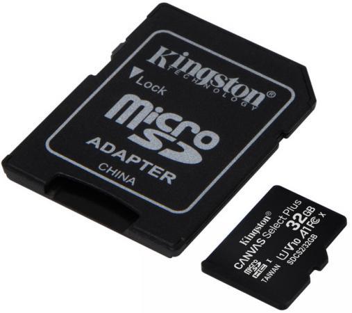 Фото - Карта памяти microSDXC 32GB Kingston Class10 UHS-I Canvas Select up to 100MB/s с адапт (SDCS2/32GB-2P1A) карта памяти kingston microsdhc 32gb microsdxc class 10 sdcs2 32gb