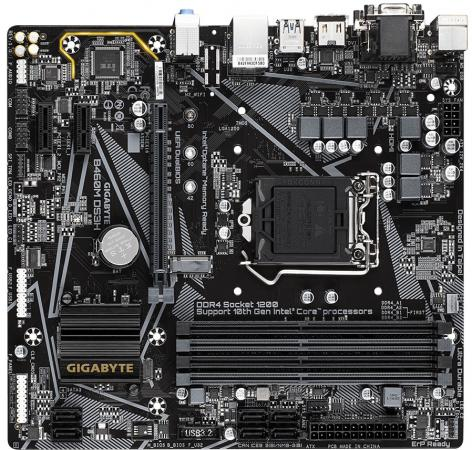 Фото - Материнская плата GigaByte B460M DS3H Socket 1200 B460 4xDDR4 1xPCI-E 16x 2xPCI-E 1x 6 mATX Retail материнская плата gigabyte b460m ds3h