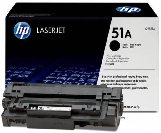 Фото - Картридж HP Q7551A №51А для LaserJet P3005 M3035MFP M3027MFP картридж cactus cs q7551x cs q7551xs для laserjet p3005 m3035mfp m3027mfp 13000стр