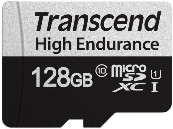 Фото - Карта памяти microSDXC Transcend 350V (высокой надёжности), 128 Гб, UHS-I Class 10 U1, с адаптером карта памяти microsdxc apacer 64 гб class 10 uhs i u1