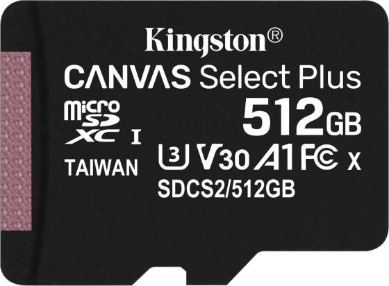 Фото - Карта памяти microSDXC Kingston Canvas Select Plus, 512 Гб, UHS-I Class U3 V30 A1, без адаптера карта памяти kingston canvas go plus microsdxc uhs i u3 v30 a2 128gb с адаптером