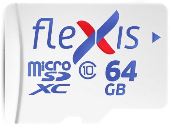Фото - Карта памяти microSDXC Flexis, 64 Гб, UHS-I Class 10 U1, без адаптера карта памяти microsdxc apacer 64 гб class 10 uhs i u1