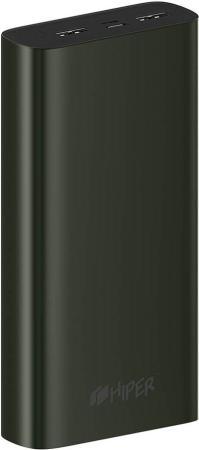 Фото - Внешний аккумулятор HIPER Power bank METAL 20K, 20000 mAh, Intput: micro-USB; USB-C: Output: 2xUSB 5V/2,4A; Max 12W Black xiaomi mi power bank 2c 20000 mah