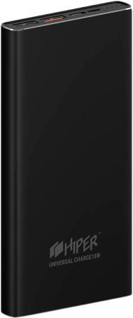 Фото - Внешний аккумулятор HIPER Power bank MPS10000, 10000 mAh, QC 3.0/PD 18W, input 5V-12V USB-C, microUSB input 5V/12W, output 2xUSB-A, USB-C; 12W + 18W, Black xiaomi mi power bank 2c 20000 mah