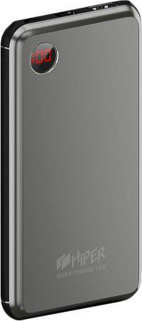 Фото - Внешний аккумулятор HIPER Power bank STEEL 10, 10000 mAh, QC 3.0/PD 18W, input 5V-12V USB-C, microUSB input 5V/12W, output 1xUSB-A, USB-C; 12W + 18W, digital screen, Space Gray xiaomi mi power bank 2c 20000 mah