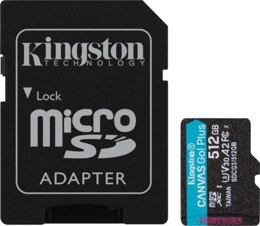 Фото - Карта памяти microSDXC Canvas Go Plus, 512 Гб, UHS-I, U3, V30, A2, с адаптером карта памяти sdxc uhs i u3 kingston canvas go plus 512 гб 170 мб с class 10 sdg3 512gb 1 шт
