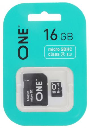 Фото - 16GB карта памяти ONE MicroSDHC UHS-I Class 10 15/10 MB/s + SD adapter битва богов 2018 10 24t17 00