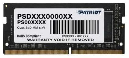 Оперативная память для ноутбука 8Gb (1x8Gb) PC4-25600 3200MHz DDR4 SO-DIMM CL22 Patriot PSD48G320081S оперативная память 32gb 1x32gb pc4 25600 3200mhz ddr4 dimm cl22 patriot psd432g32002