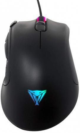 Фото - Игровая мышь Patriot Viper V551 (PixArt 3327, Omron, 8 кнопок, 6200 dpi, RGB подсветка, USB) мышь игровая redragon invader rgb 8 кнопок 10000 dpi 78332