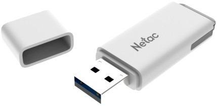 Фото - Флеш Диск Netac U185 32Gb <NT03U185N-032G-20WH>, USB2.0, с колпачком, пластиковая белая флеш накопитель netac u182 32gb nt03u182n 032g 30re