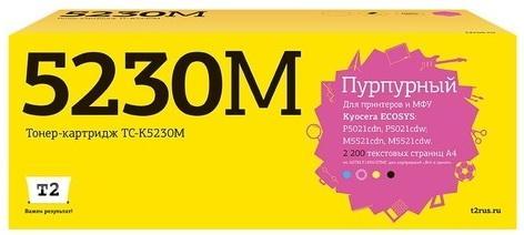 Фото - TC-K5230M Тонер-картридж T2 для Kyocera ECOSYS M5521cdn/M5521cdw/P5021cdn/P5021cdw (2200 стр.) пурпурный, с чипом t2 tk 1160 тонер картридж tc k1160 для kyocera p2040dn p2040dw 7200 стр с чипом
