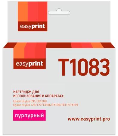 Фото - Картридж EasyPrint IE-T1083 для Epson Stylus C91/CX4300/TX106/TX117, пурпурный, с чипом картридж easyprint ie t1082 для stylus c91 cx4300 tx106 tx117 151стр голубой