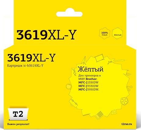 Фото - IC-B3619XL-Y Картридж T2 для Brother MFC-J3530DW/J3930DW, желтый, с чипом картридж brother lc3617bk для brother mfc j3530dw j3930dw черный 550стр