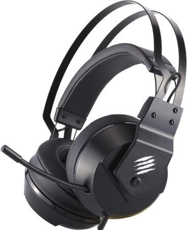 Игровые наушники Mad Catz F.R.E.Q. 2 черные (USB, 40 мм неодимовые магниты, 32 Ом, 20 ~ 20000 Гц, микрофон)