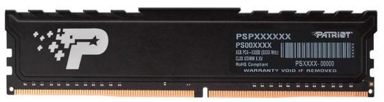 Оперативная память 8Gb (1x8Gb) PC4-25600 3200MHz DDR4 DIMM CL22 Patriot PSP48G320081H1 оперативная память 32gb 1x32gb pc4 25600 3200mhz ddr4 dimm cl22 patriot psd432g32002