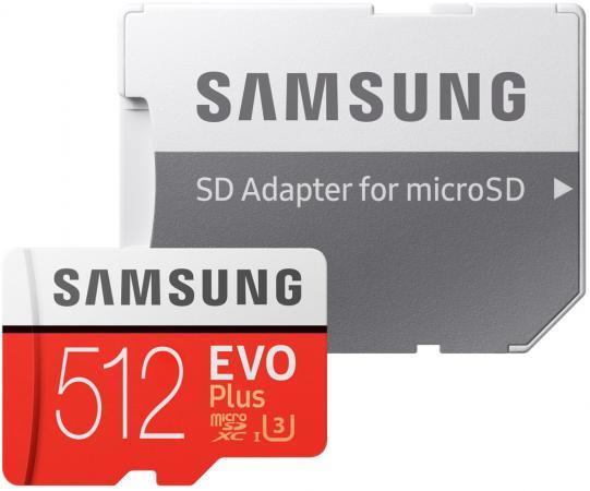 Фото - Флеш карта microSD 512GB SAMSUNG EVO PLUS microSDХC Class 10, UHS-I, U3 (SD адаптер) 100MB/s,90MB/s MB-MC512HA/RU флеш карта microsd 512gb silicon power superior pro a1 microsdxc class 10 uhs i u3 colorful 100 80 mb s sd адаптер