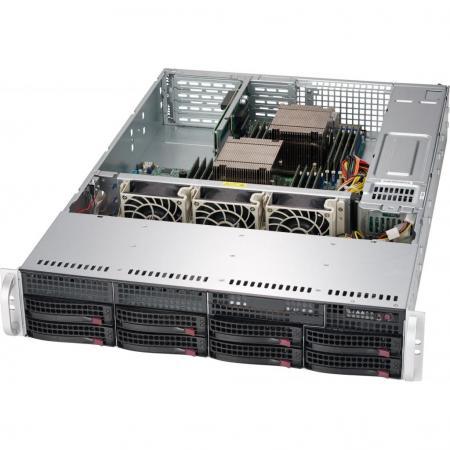 "Корпус SuperMicro CSE-825TQC-R802LPB 2U SC825TQC 8 x 3.5"" hot-swap SAS3/SATA LP Chassis w/ Red. 800W PWS"