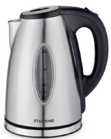 Фото - Чайник электрический Starwind SKS3001 2л. 2200Вт серебристый/черный (корпус: нержавеющая сталь) чайник электрический starwind skp2212 белый черный
