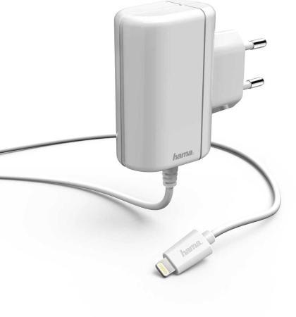 Фото - Сетевое зарядное устройство HAMA H-178262 2.4А 8-pin Lightning белый сетевое зарядное устройство hama h 183265 8 pin lightning 2 4а белый