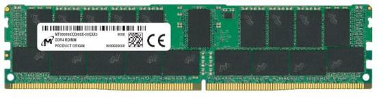 Оперативная память 32Gb (1x32Gb) PC4-21300 2666MHz DDR4 DIMM ECC Registered CL19 Crucial MTA36ASF4G72PZ-2G6J1