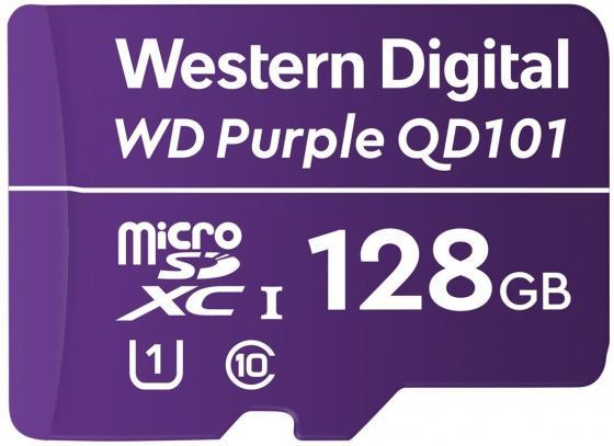 Фото - Флеш карта microSDXC 128Gb Class10 WD WDD128G1P0C Purple w/o adapter флеш карта microsdxc 128gb class10 sandisk sdsquns 128g gn6mn ultra 80 w o adapter